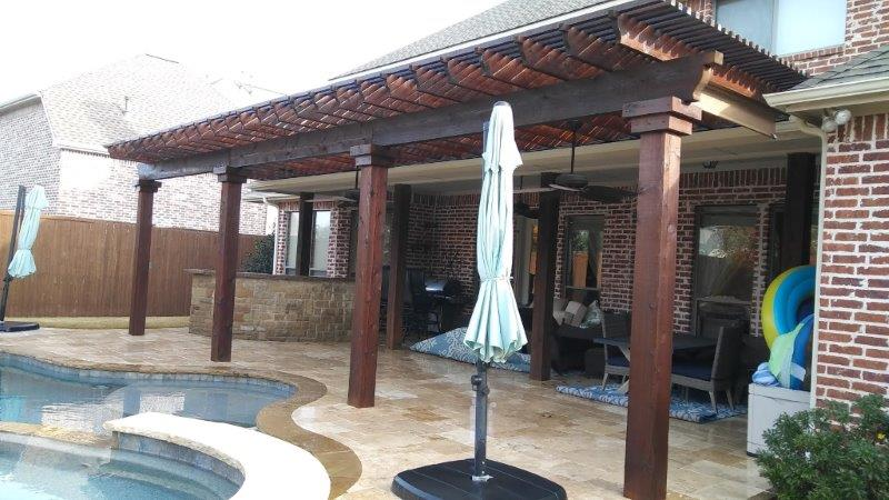 Arbor And Patio Cover Staining Texas Best Stain