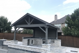 Custom Gray Patio Cover