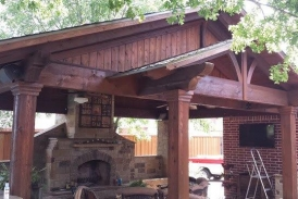 Pecan Patio Cover Stain