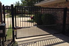 6' Automatic Wrought Iron Swing Gate