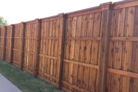 8' Board on Board Cedar with Boxed Posts