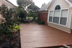 Chocolate Behr Deck Over