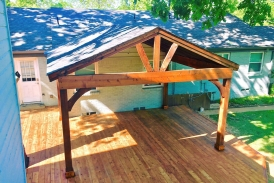 Cedar Decking with Patio Cover