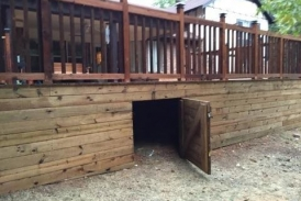Cedar Deck with Storage Gate(1)