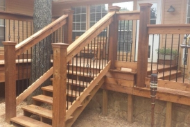 Cedar Deck with iron spindles