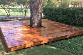 Stained Cedar Decking