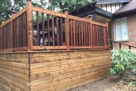 Raised Cedar Deck with Treated Pine Skirt