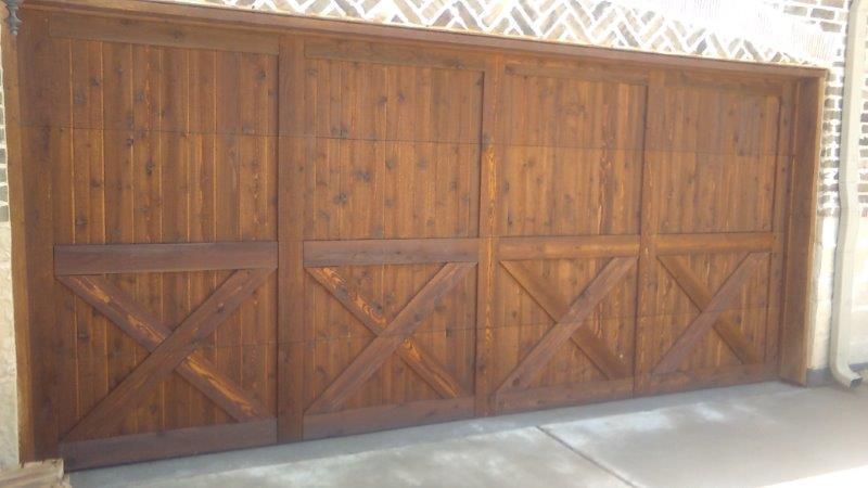 Garage Door Shutter And Column Staining Texas Best Stain