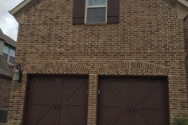 Padre Brown Solid Garage and Shutters