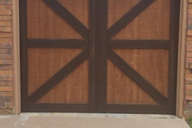 Two Tone Garage Stain2