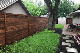 6' Side by Side Horizontal Cedar Fence
