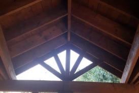 Cedar Patio Cover Open Joist