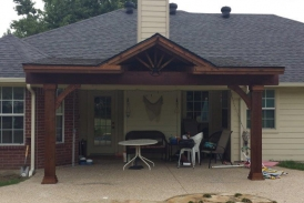 Flat with Gable Patio Cover