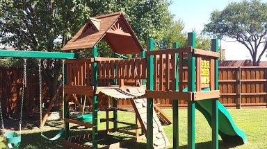 Playset Staining Texas Best Stain