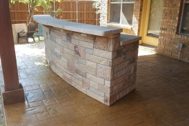 Curved Stone Bar