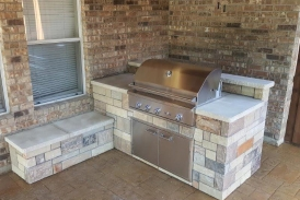 Custom Stone Grill Enclosure