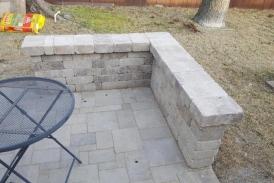 Danville Beige Paver Patio - Seat Wall