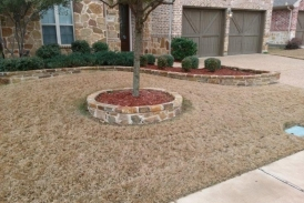 Flagstone Flower Bed Boarder