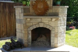 Lueder Stone Fireplace