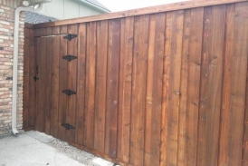 8' Board on Board Cedar Flat Cut Gate