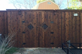 8' Cedar Double Swing Gate