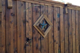 8' Custom Cedar Gate with TX Star