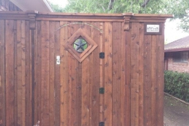 Custom Gate with Electronic Keypad Lock
