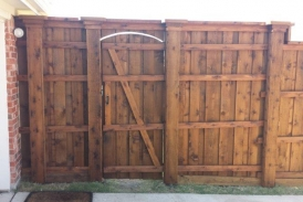 Gate with Boxed Posts