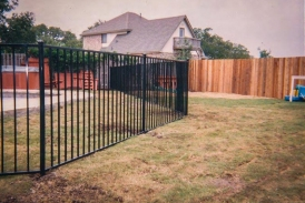 6' 2 Rail Flat Top Wrought Iron Fence