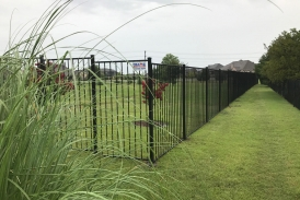 6' 2 Rail Iron Fence