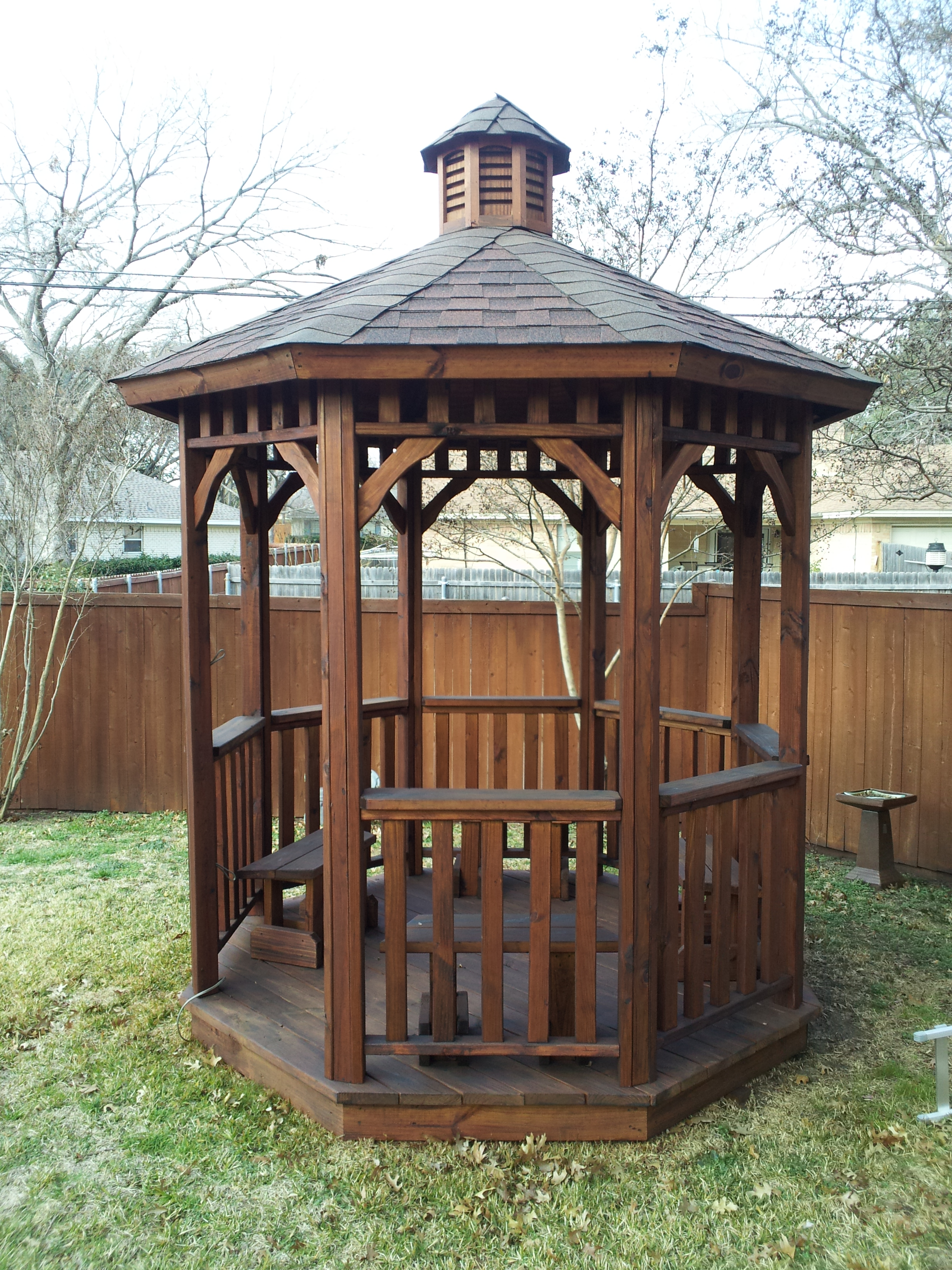 Pecan Ready Seal Gazeebo